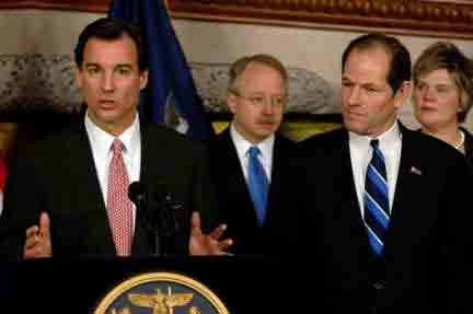 Tom Suozzi And Eliot Spitzer Announce The Commission On Property Tax Relief