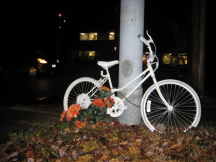 Diva's Ghost Bike, At Night In Autumn