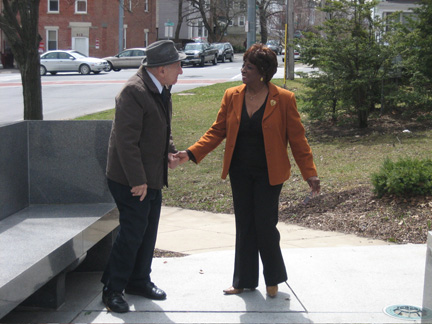 Luci McKnight Greets George Infante