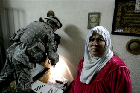 23rd Infantry Soldier Searches A House In Baghdad