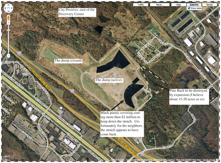 google map of Proposed Landfill Expansion