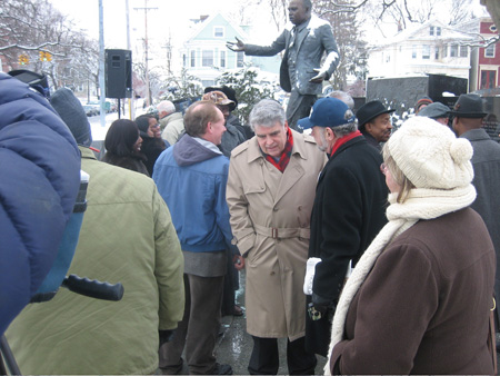Assemblyman Jack McEneny (Center) Bugged By An Uptown Party Hack.  The Guy Wouldn't Leave Him Alone The Whole Time