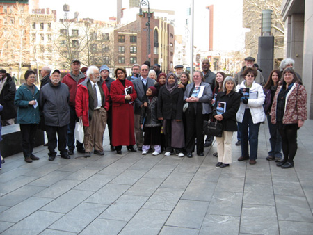 Albany Supporters Of Aref And Hossain Outside The Federal Courthouse In NY City, March 2008