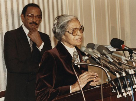 A Younger John Conyers With Rosa Parks