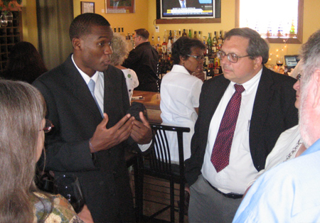 Our Next Mayor Corey Ellis With Dominick Calsolaro At Avenue A On Delaware Earlier This Month