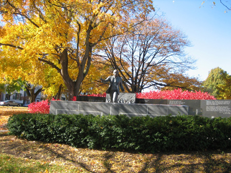 Martin Luther King Statue in Lincoln Park, Albany, NY