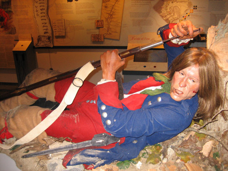 Rebel Soldier In Action, One Of The Realistic Figures On Display At The Museum