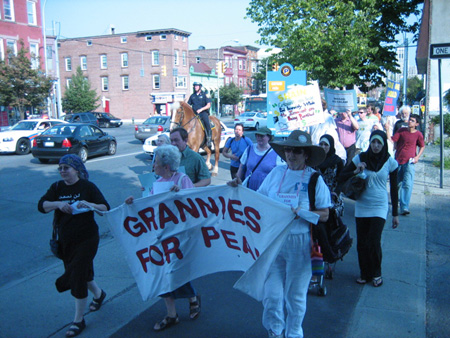 March To Support Aref And Hossain,  Central Avenue In Albany, August 2009