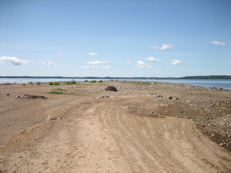 Deer Island, Great Sacandaga Lake, 2009, Stripped By High Water. This Island Was Covered With Trees In 1999