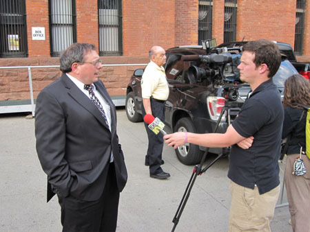 Dominick Interviewed By Channel 10 Before The Rally