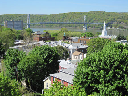 Rooftops Of Poughkeepsie, Between The Train Station And The Walkway