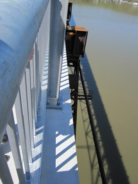 Leaning Over The Edge,Showing The Old Trestle Under The New Walkway