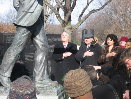 Helena Heath-Roland Poses For The Cameras with Jerry Jennings And John Egan On MLK Day In My Neighborhood 2009
