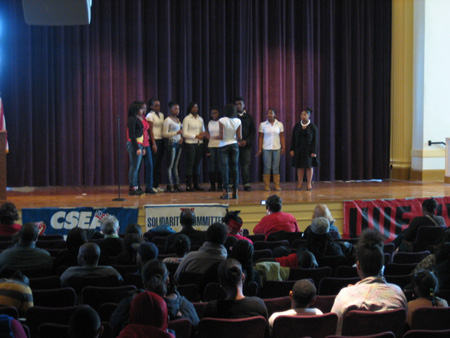 Hackett Public School Auditorium This Past MLK Day