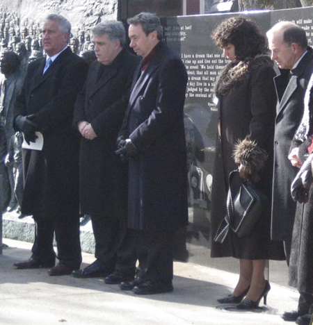 Helena Heath-Roland Stands Up Front with The Big Boys, Jerry Jennings, Jack McEneny, Ron Canestrari And Bob Reilly, MLK Day 2008