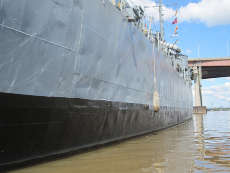 USS Slater Waterline: Looking Good