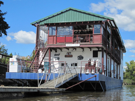 Floating Restaurant Near The Boat Launch