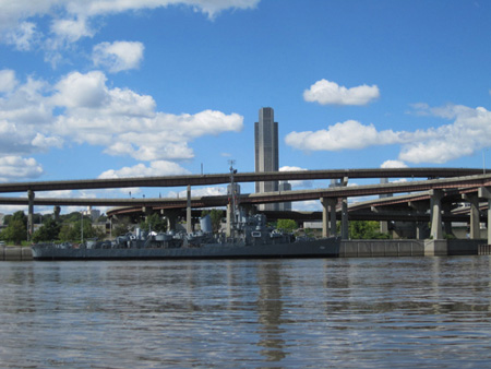 The USS Slater And Albany As Seen From Rensselaer Across The Hudson River