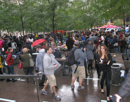 Zuccotti Park NYC October 2011: Like An Ongoing Festival