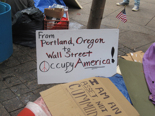 From Portland, Oregon to Wall Street Occupy America!