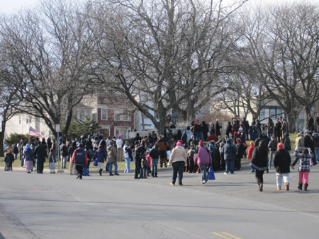 Marchers Gathering To Honor Dr. King In My Neighborhood