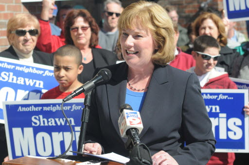 Shawn Morris Announcing Her Run For Mayor, 2009