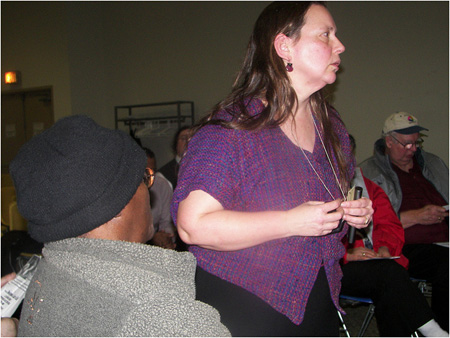Kristina Younger At A Public Meeting Last Year (Best Photo I Could Find)