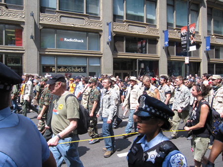 Veterans March In Chicago, May 2012