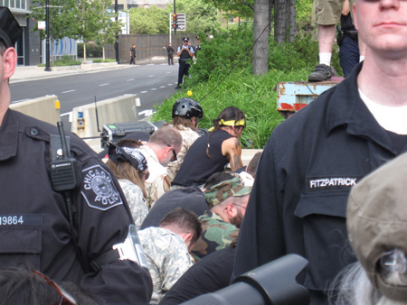 Veterans Pray While Cops Harass