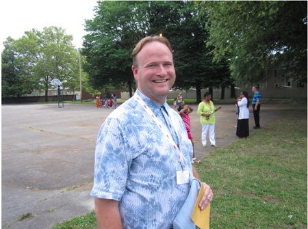 Project Coordinator Jefferson Weidman Of Arbor Hill Elementary School