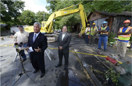 Albany Mayor Jerry Jennings On June 27 On Delaware Street