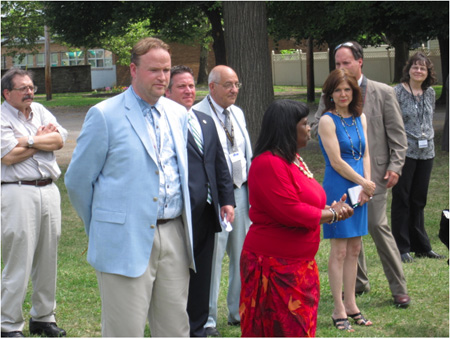 Giffen Principal Maxine Fontroy-Ford (In Red)