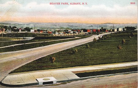 "Postcard ""Beaver Park, Albany N.Y."" (click on picture for detail)"