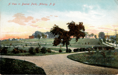 "Postcard ""A View In Beaver Park, Albany, N.Y."" (click on picture for details)"