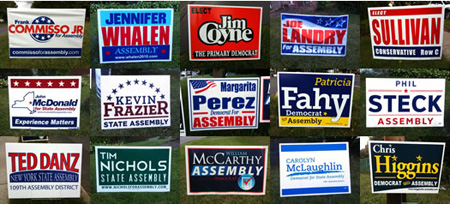 Some Of This Year's Lawn Signs In Albany (From AOA)