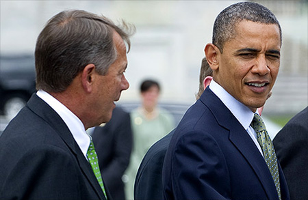 Top Gop John Boehner And The President Discuss How Best To Serve The One Percent