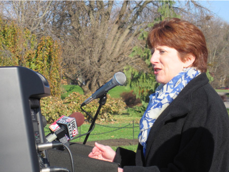 Kathy Sheehan Announces Her Candidacy For Mayor Of Albany, Washington Park, Nov. 17, 2012