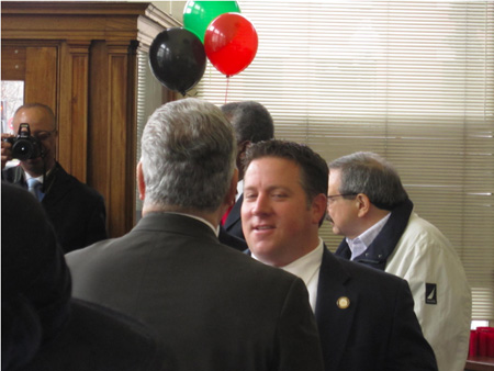 Jerry Jennings Conversing With Albany County Executive Dan McCoy On Dec. 5