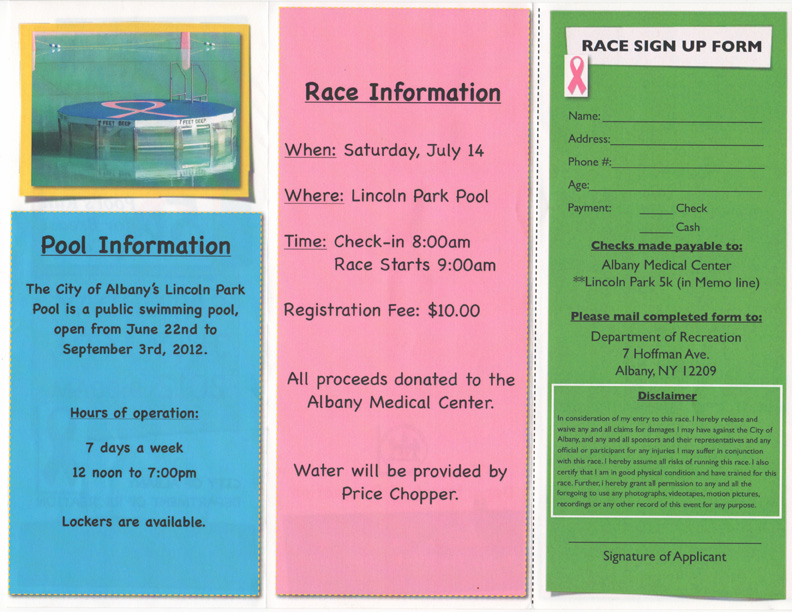 Lincoln Park Pool Run For Breast Cancer
