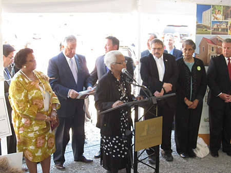 Joann Morton, President Of The South End Neighborhood Association Praises The Project