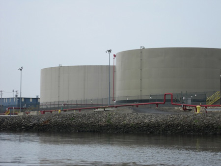 Newly Constructed Oil Storage Tanks At The Port Of Albany, Photo From 2010