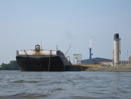 Tank Barge Loading Oil At The Port Of Albany