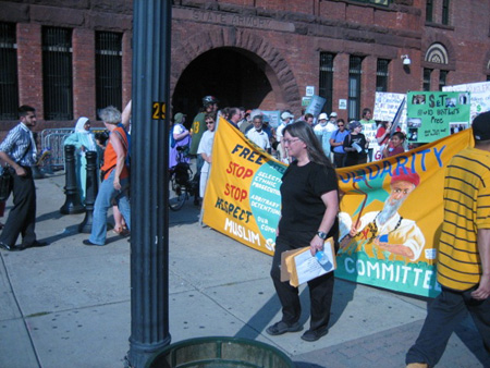The Wife Leads A March For Aref And Hossain, Albany 2009