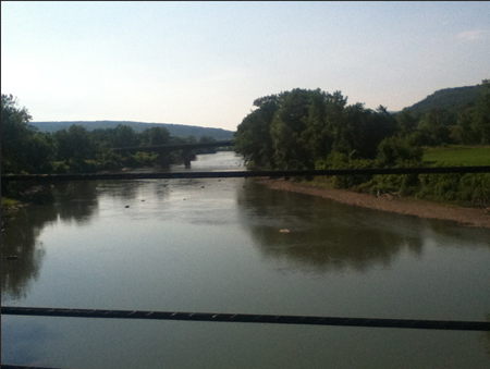 The River Known As Schoharie Creek Near Central Bridge In The Morning (Photo Lynne Jackson)