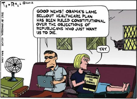 "The Book Title Is ""Unemployment For Dummies"" (Ted Rall)"
