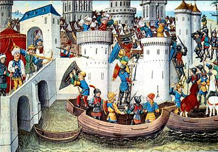 Fall Of Constantinople, 1204 (Illustration From The 1300s)