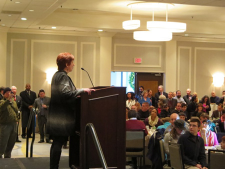 Later Mayor Kathy Sheehan Gave A Free Lunch To Supporters At The Hilton On State Street