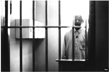 Nelson Mandela In His Cell On Robbin Island