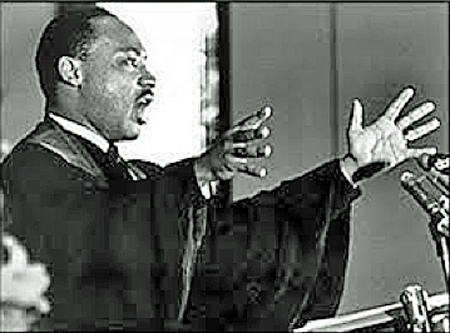 Martin Luther King Preaching