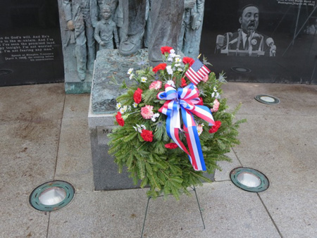 The Wreath At Dr. King's Feet